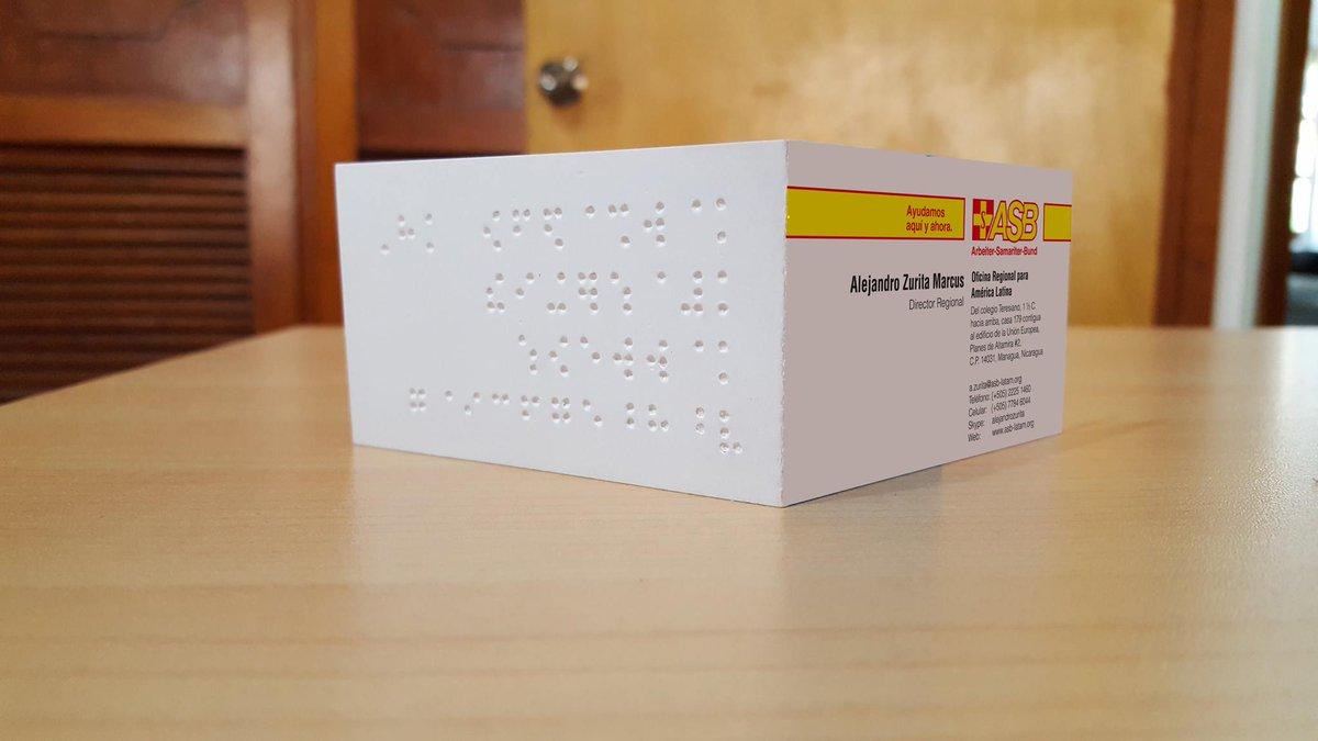 Asb Deutschland E V On Twitter Visitenkarten Mit Braille