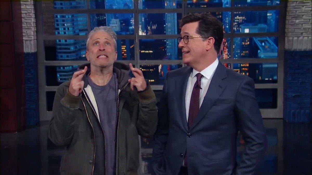 Stephen Colbert Breaks The Emergency Glass On Jon Stewart, Teases His Appearance For Tonight