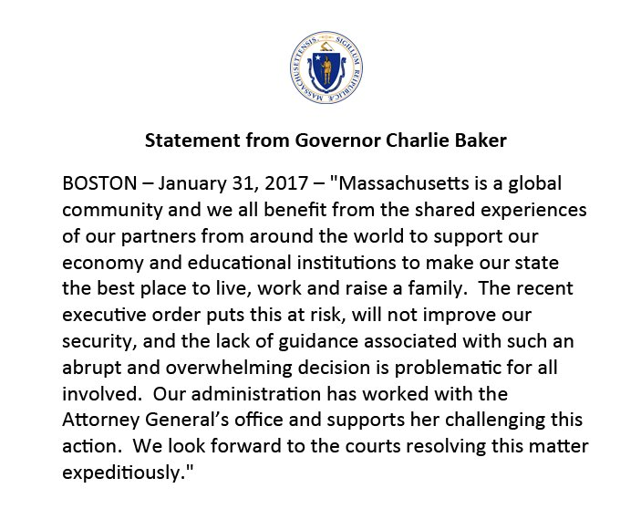 Our administration has worked with @MassAGO's office and supports her challenging this action. Full statement: https://t.co/TqJ5wVv4oZ