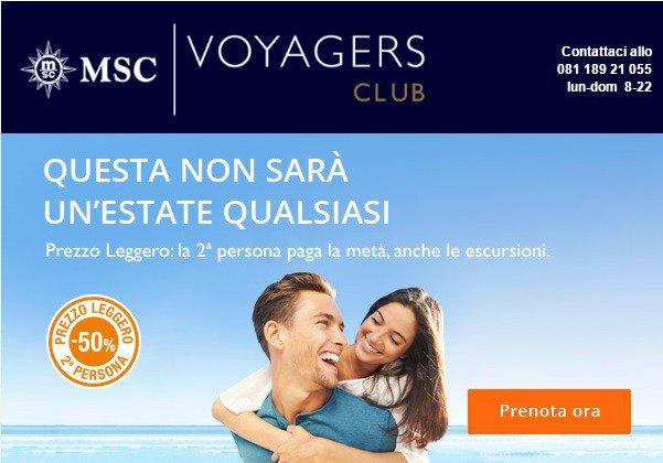 MSC Crociere posticipa la promozione Prezzo Leggero con sconti viaggi in crociera