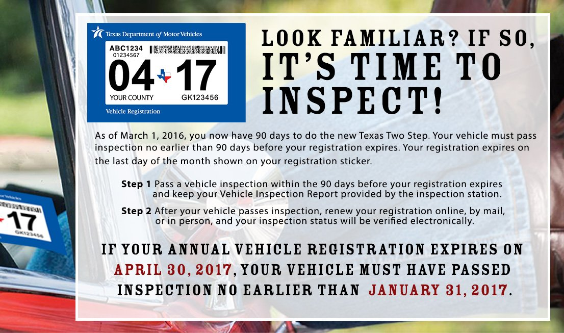 If your annual vehicle registration renewal is due by April 30, 2017, you'