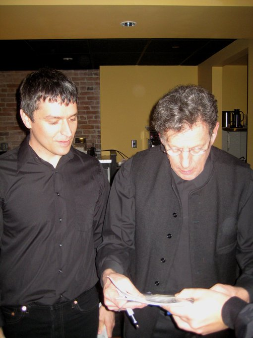 Happy 80th birthday Philip Glass. So to stand awkward AF next to you in 2009.