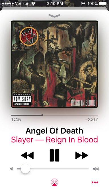 Happy Birthday Jeff Hanneman.  Gone but definitely not forgotten cranking some Slayer today