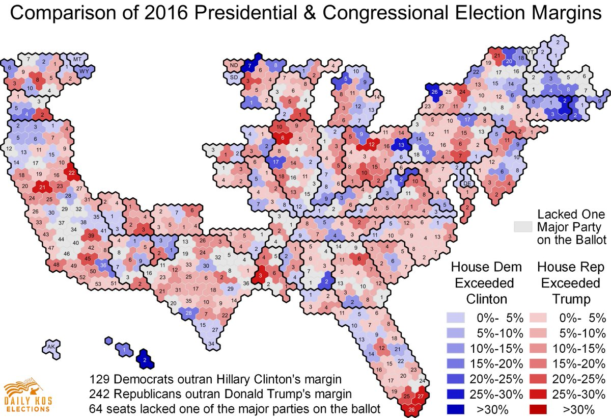 Stephen Wolf on Twitter 2016 US House election results were