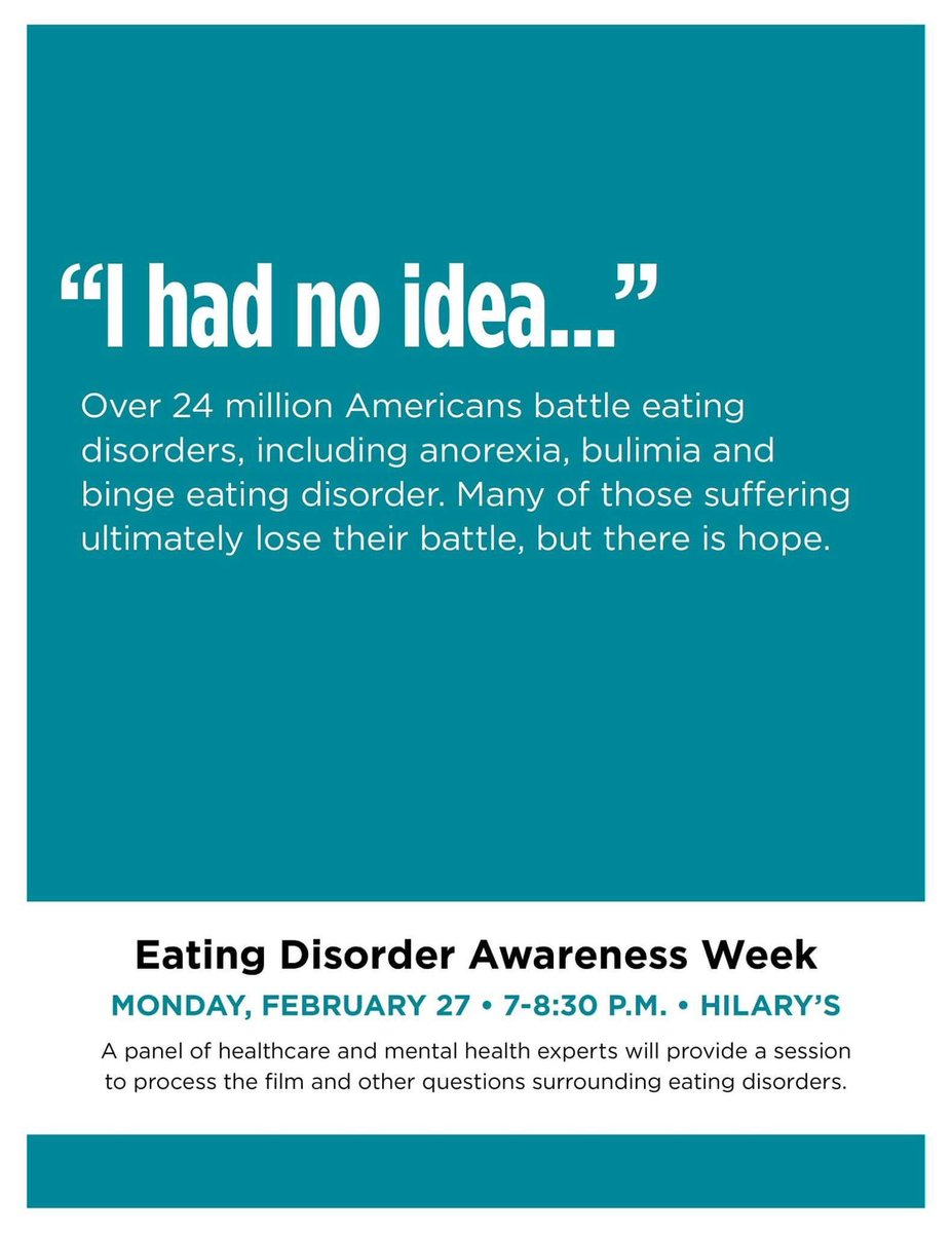 Come Show Your Support During Eating Disorder Awareness Week We Will Have A Panel Of Healthcare And Mental Experts Tco 2Cgut3KxJ7
