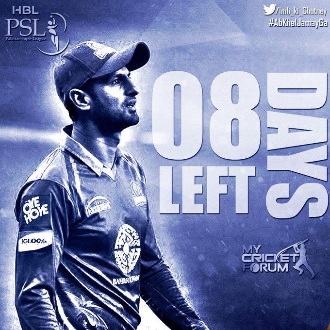 """8 Days Left for <3 :*  Happy Birthday \"""" Shoaib Malik \"""""""