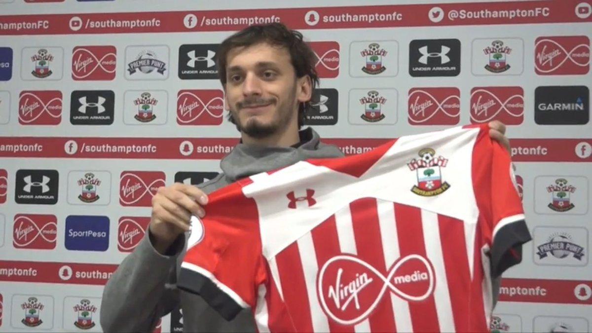 4 anos e meio de contrato e £14m mais bônus  Bem-vindo @Mgabbia23 #SaintGabbiadini