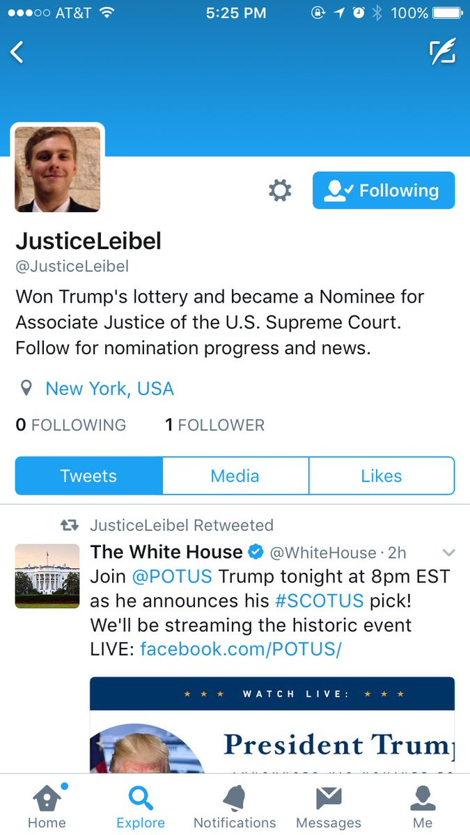 michael leibel on honored that realdonaldtrump is michael leibel on honored that realdonaldtrump is considering me for scotus good luck justicehardiman and justicegorsuch