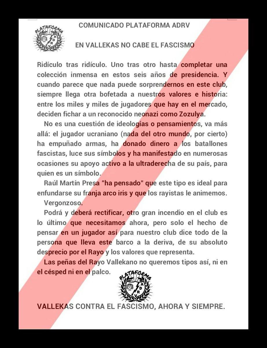 COMUNICADO OFICIAL. En Vallekas no cabe el fascismo. #PresaVeteYa https://t.co/py5PAdF2yf