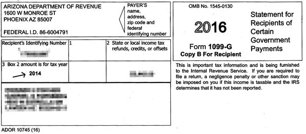 1099 form arizona  Arizona : sends erroneous tax forms Arizona taxpayers ...