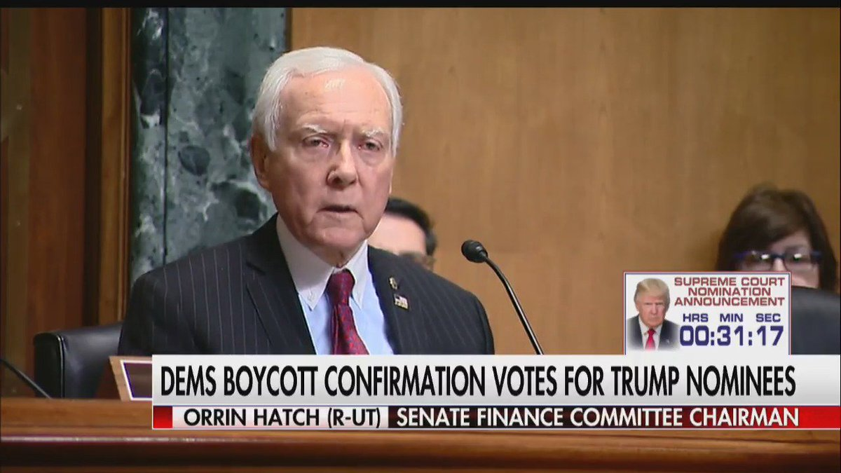 """.@SenOrrinHatch: """"I think they ought to stop posturing and acting like idiots."""" #First100"""