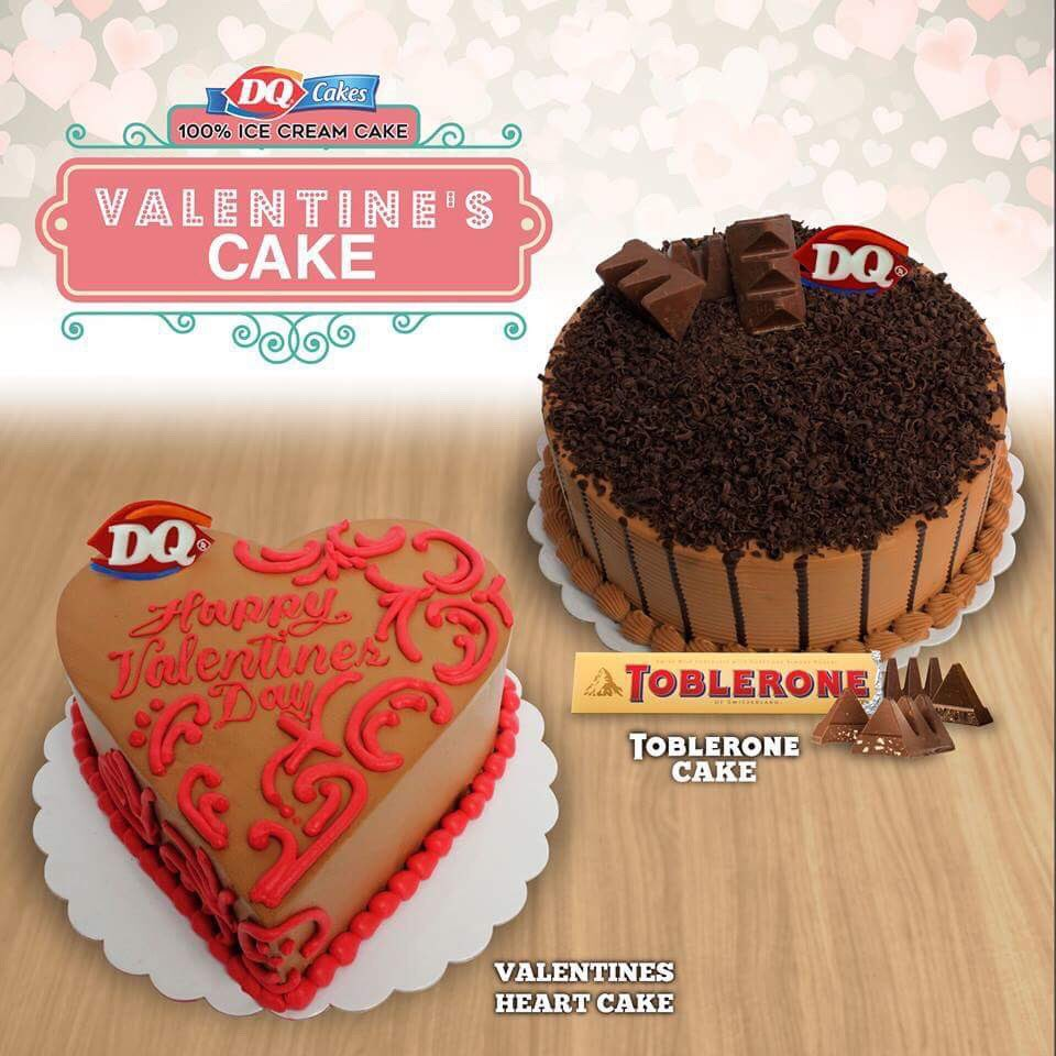 Choose between the vanilla-flavored Heart Cake and the limited edition Toblerone Cake. Available in all #DairyQueenPH Cake stores now! https://t.co/H0gcdzn1SC