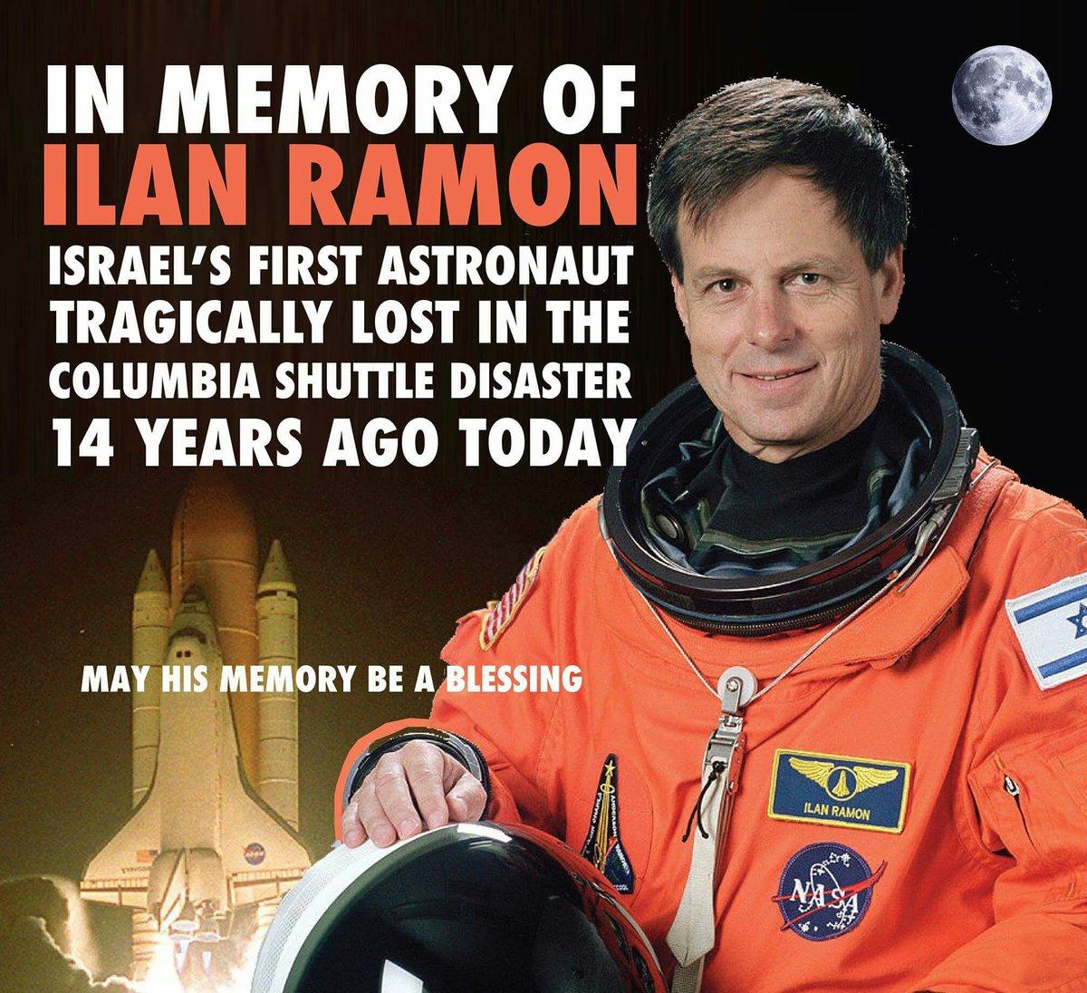 First Israeli in Space Astronaut Ilan Ramon NEW POSTER