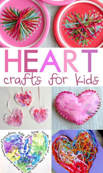 Heart Crafts for Kids for Valentine's Day