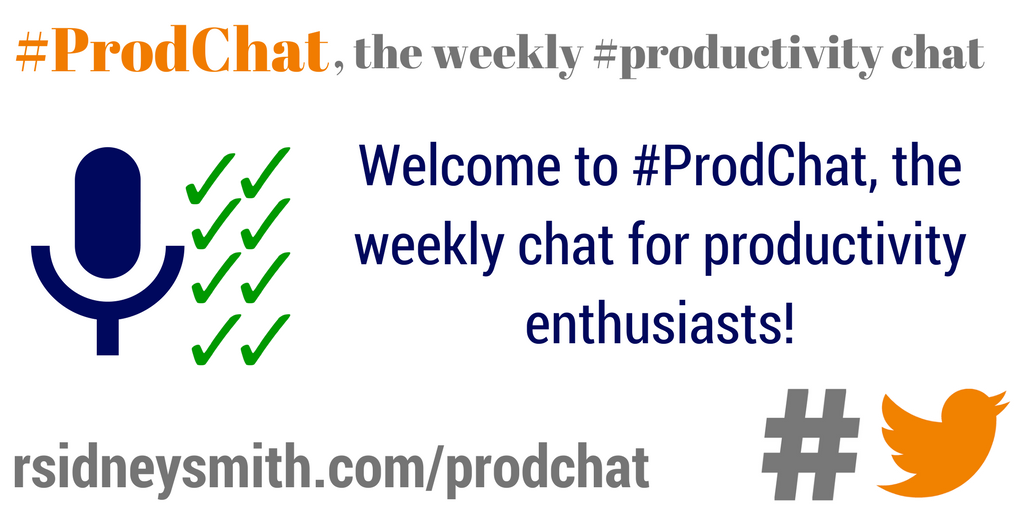 Welcome to #ProdChat, the weekly chat for productivity enthusiasts! https://t.co/C40vBakDrB https://t.co/23BWTjgHRv