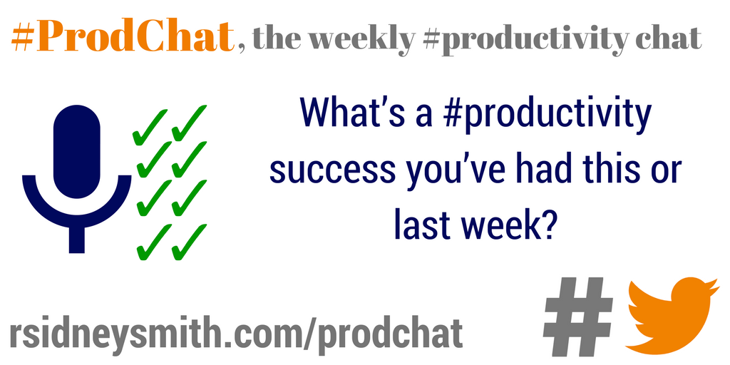 What's a #productivity success you've had this or last week? #prodchat https://t.co/PToKwBBwbI
