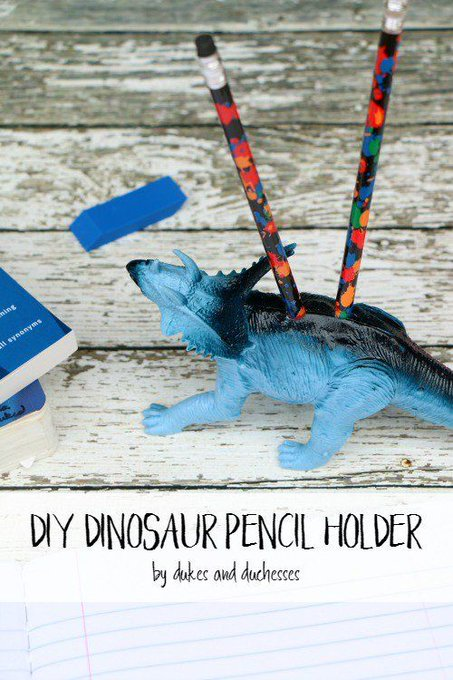 DIY Dinosaur Pencil Holder