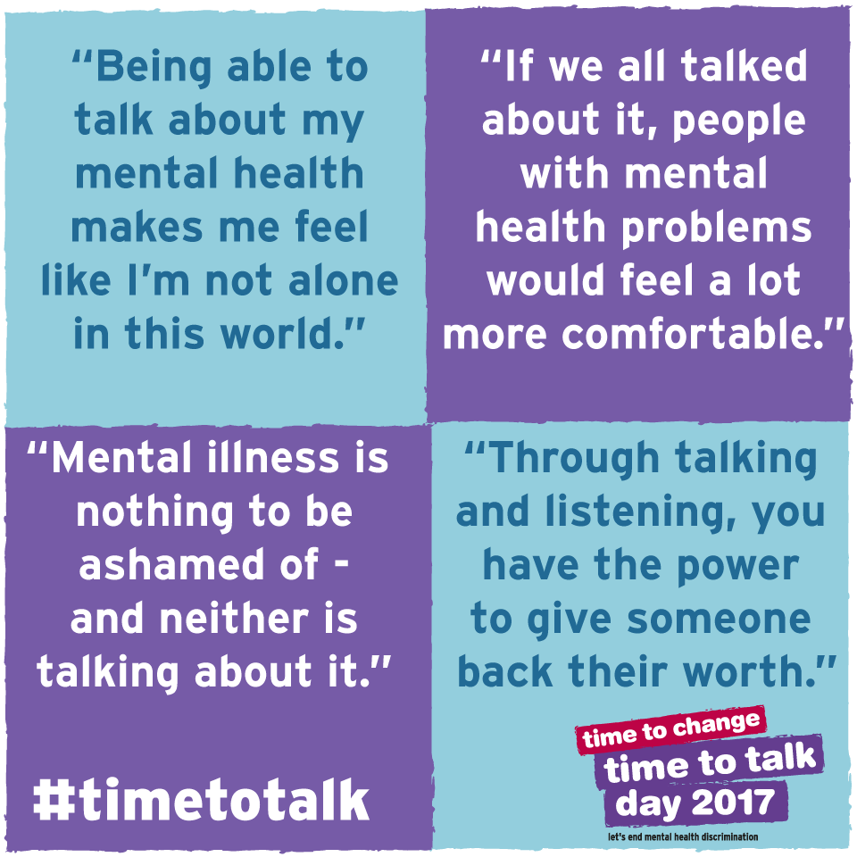 """Sad Quotes About Depression: Time To Change On Twitter: """"It's #TimetoTalk Day. A"""