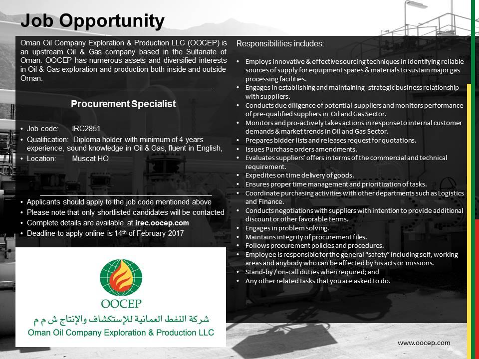 Oman Oil Company E&P on Twitter: