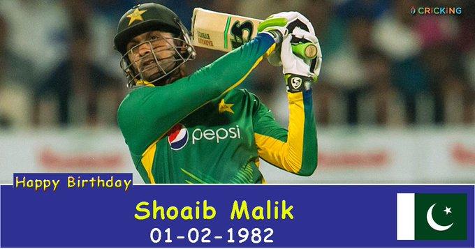 Happy Birthday Shoaib Malik. The Pakistani cricketer turns 35 today.