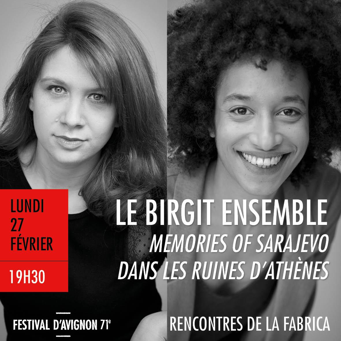 Prochaine rencontre de la FabricA lun. 27/02 avec Le Birgit Ensemble pour 2 créations au @FestivalAvignon #FDA17 https://t.co/MGD6ZISzvi