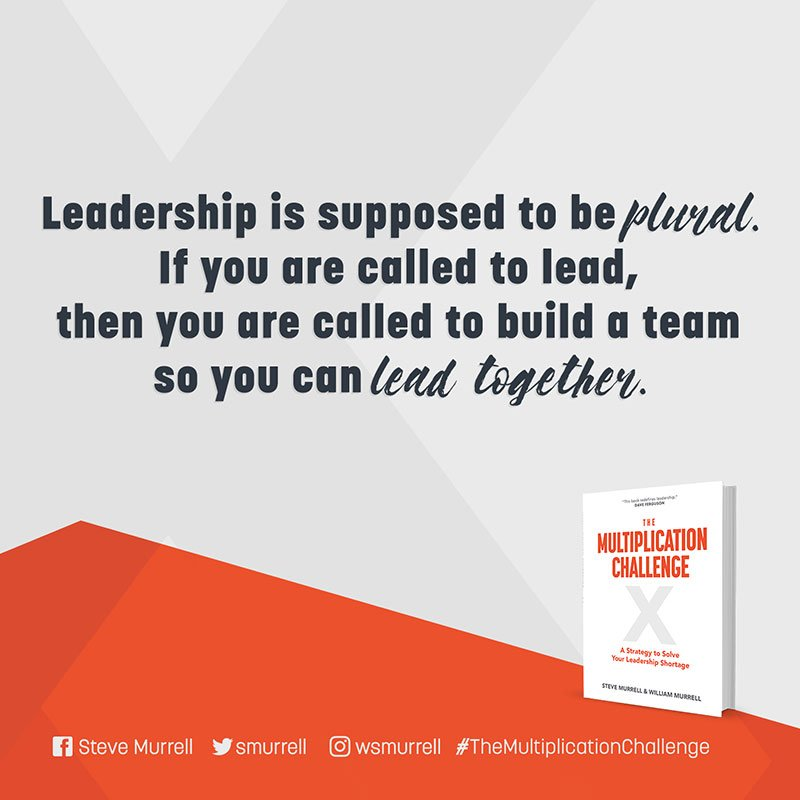 Solve your leadership shortage.  Order your copy today at https://t.co/2KqQyvlAGO #Themultiplicationchallenge https://t.co/AGnwiDQzs5