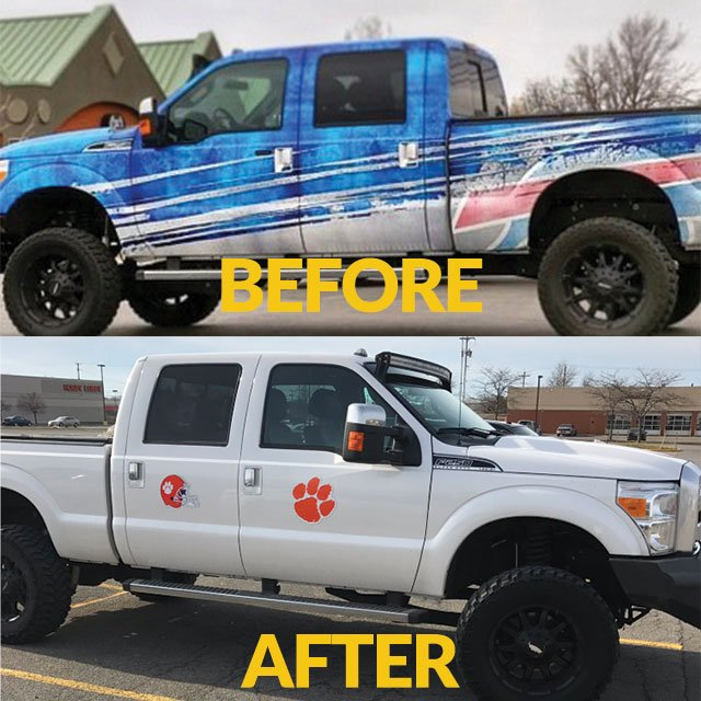 Rex Ryan's truck as the @buffalobills Head Coach and after he got fired... (his son plays for @ClemsonTigers) #httr https://t.co/3k3ARmHtEQ