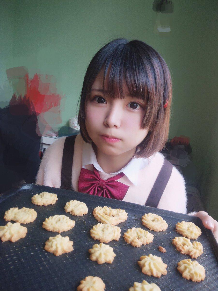 昨日試しにクッキーを作ってみました、でもちょっと失敗みたい  ( ´・∀・`)