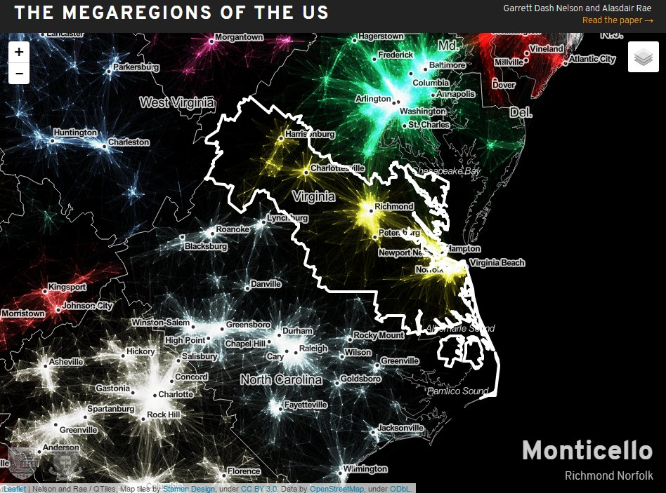 Alasdair Rae On Twitter Our US Megaregions Project Now Has Its - The megaregion map of the us dartmouth