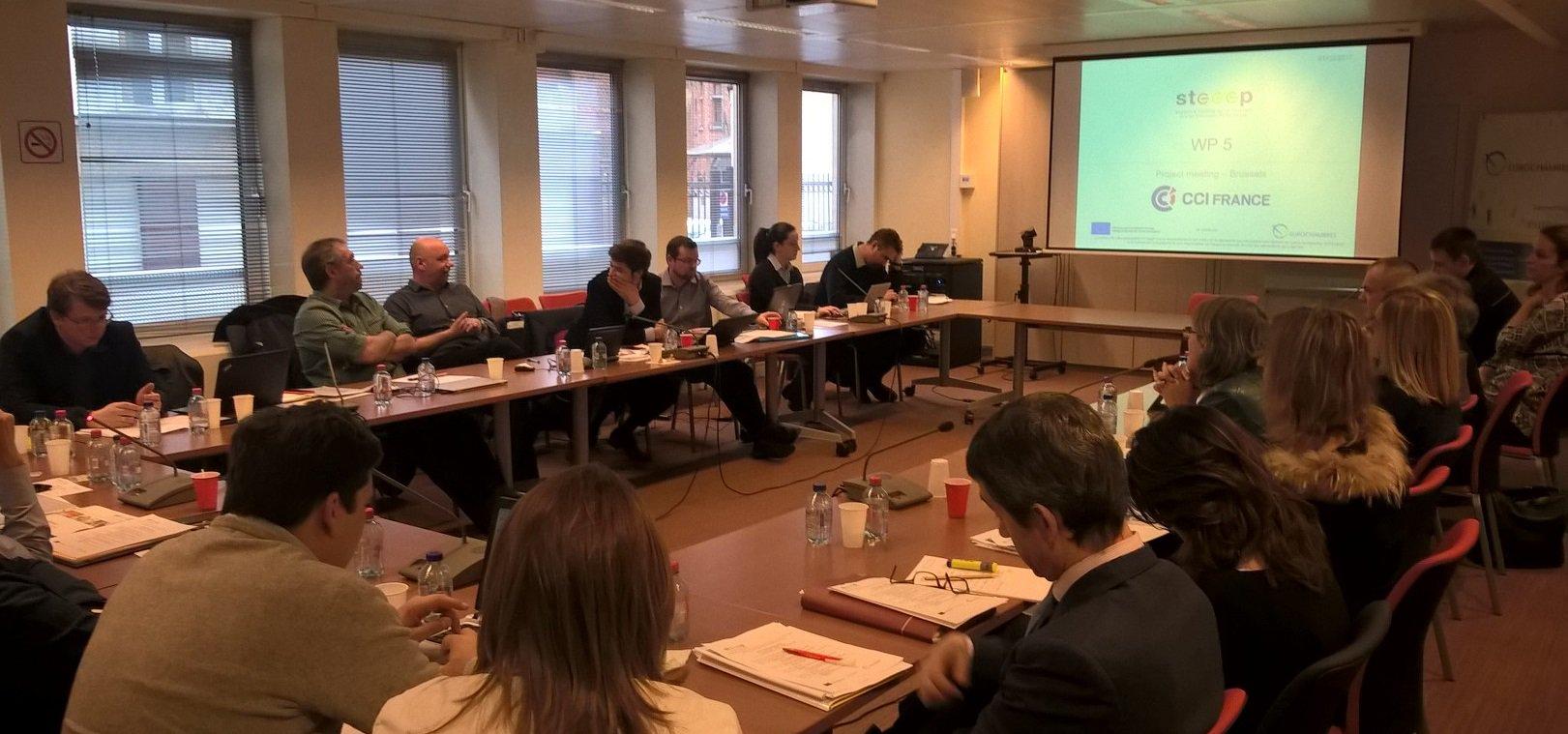 Nous participons aux derniers échanges entre #CCI européennes engagées ds progr. #STEEEP efficacité #Energie #PME @EUROCHAMBRES #Bruxelles https://t.co/6pchoDV0e6