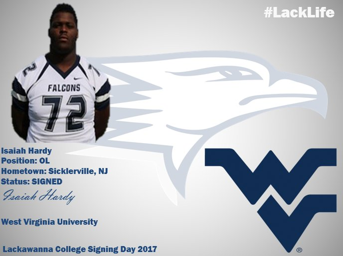 Congratulations to OL @hardy_RT78 for signing with West Virginia University! #TrustTheProcess #LackLife
