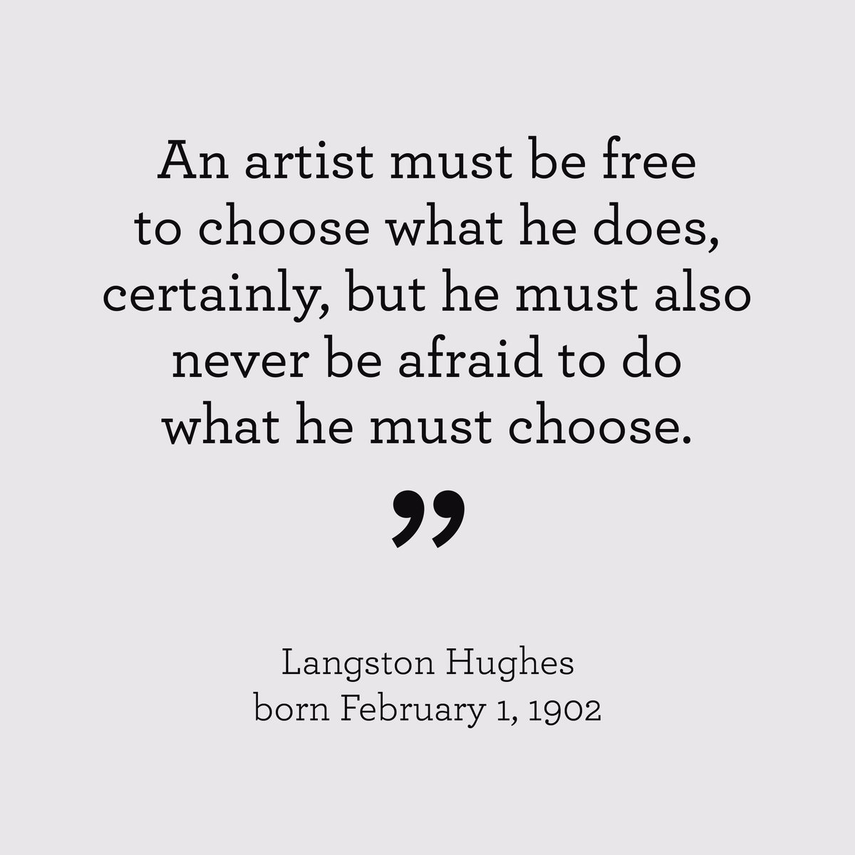 Happy Birthday, Langston Hughes, born on this day, Feb 1, in 1902. https://t.co/45uVzll2d1