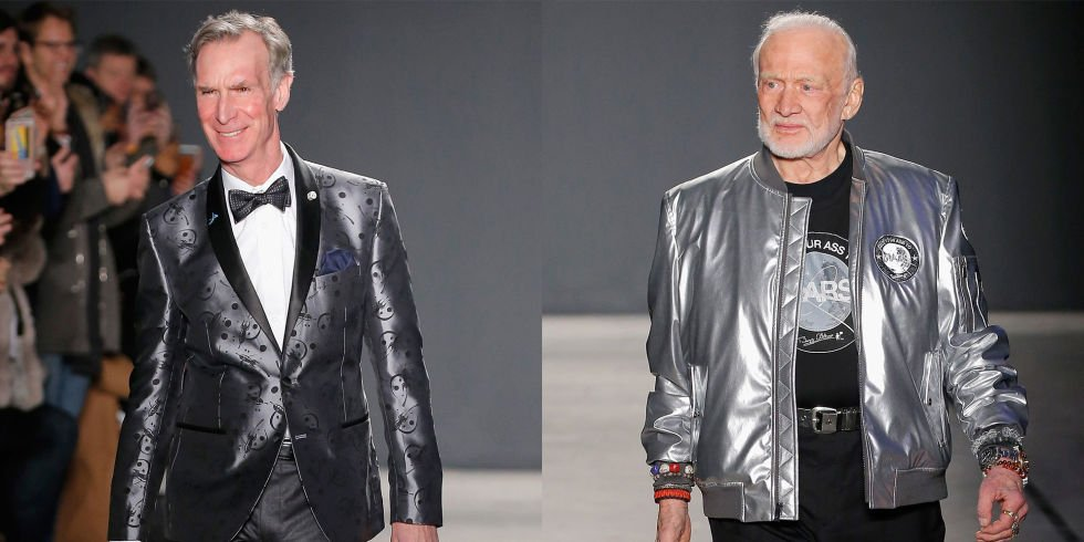 Bill Nye and Buzz Aldrin walked the runway at Men's Fashion Week last night! https://t.co/Eu2pC3YrR3 https://t.co/RuAp9s4Iby