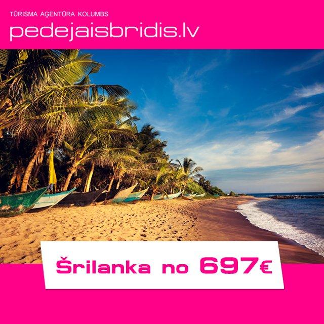 Atpūties pasakainajā Šrilankā no 697€! Cenā: lidojums + transfērs + viesnīca. Pērc savu ceļojumu šeit: https://t.co/FNYI4qsLR7 https://t.co/7P8OjoNRZx