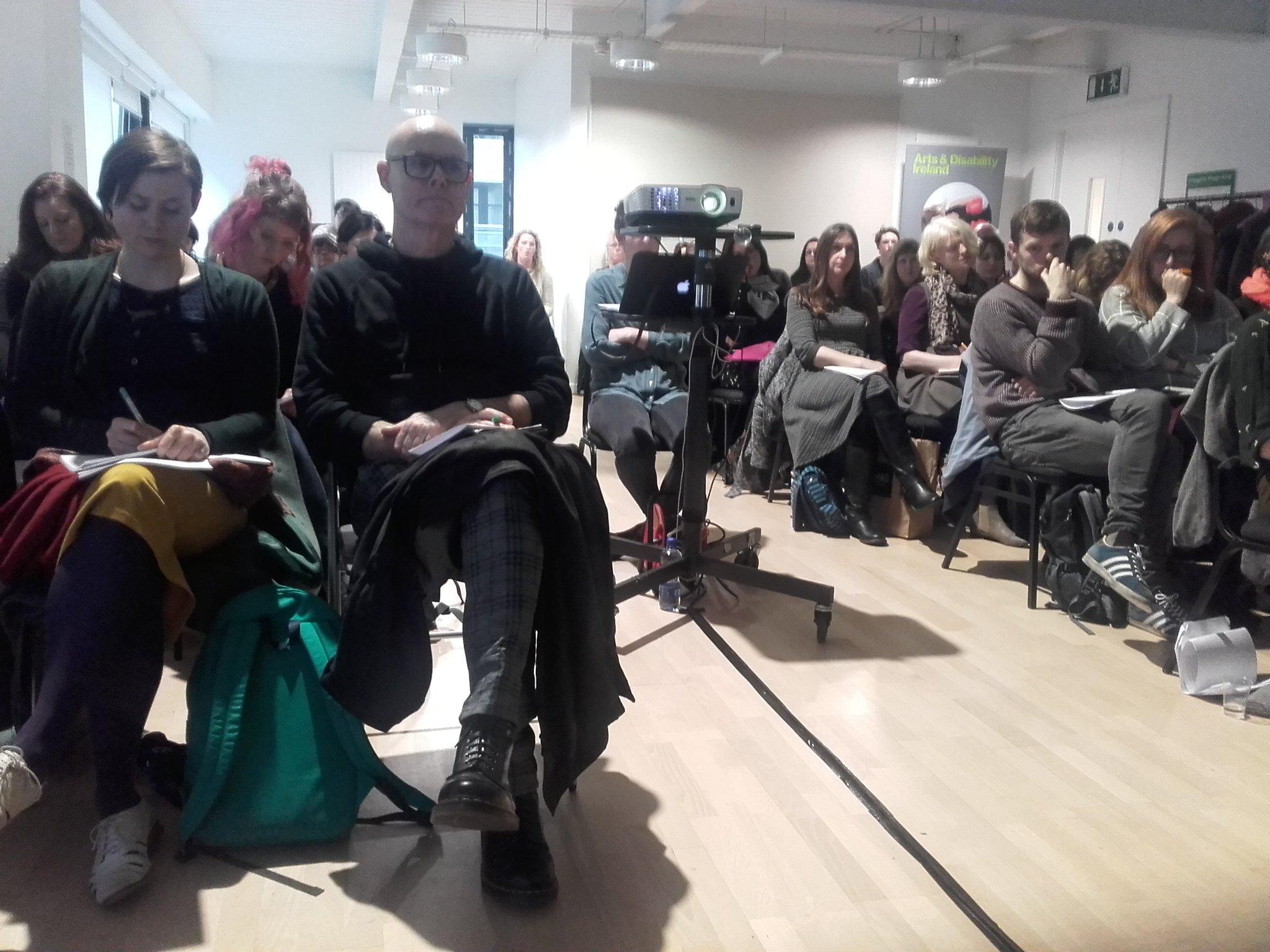 full house #aDifferentRepublic seminar @LabDCC presentations from Amanda Coogan, Suzanne Walshe and @AideenBarry @ADIarts @FSArtistStudios https://t.co/17O3LEJZsJ