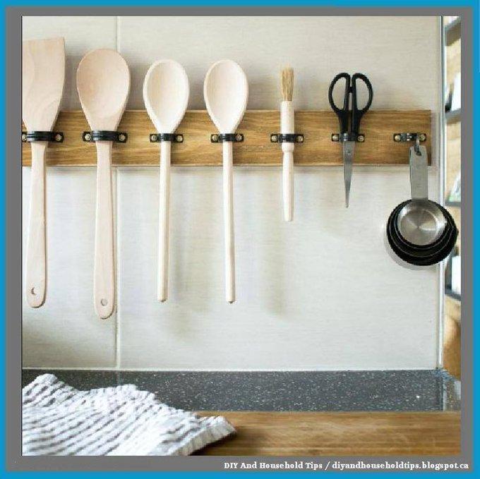 Make a DIY Utensil Hanging Rack – In 10 mins!