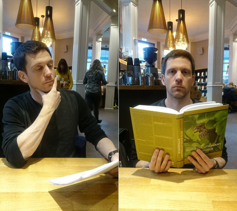 Left: 29 exciting ecoevo talks selected for #ESEB2017! Right: #PeopleWhoFellAsleepReadingMyBook @EcoEvoEvoEco @EizaguirreLab https://t.co/XXM8ZZ8cJ9