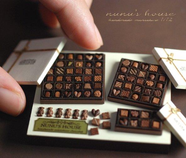 #夜中にそっと甘い物を差し入れ 過去作のチョコレートディスプレイ。 シーズン作品再上げ!