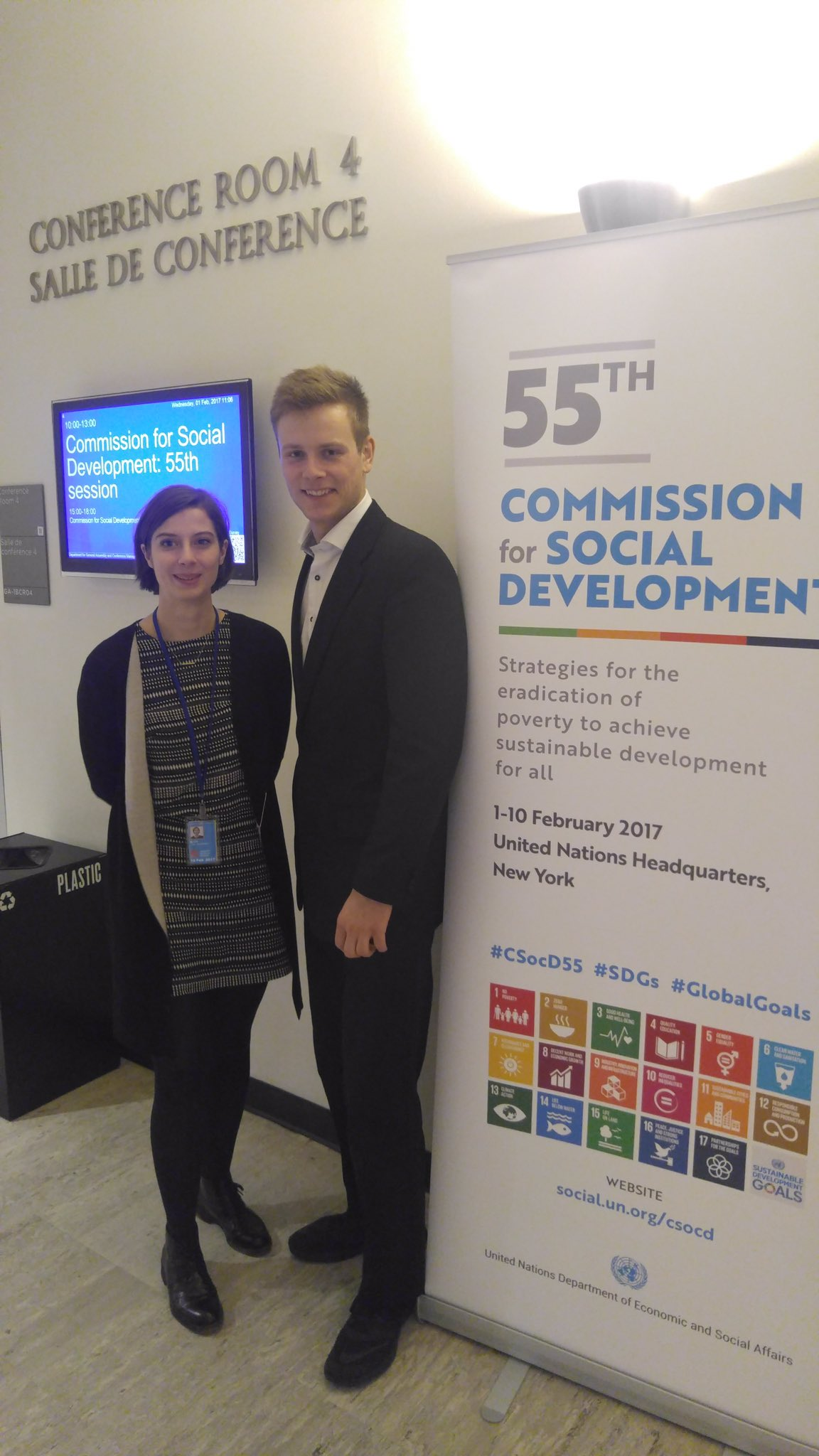 Proud to have our youth delegates Katharina and Eric here in New York, providing youths' voice to #CSocD55 discussions. https://t.co/aU2fLlrnYN