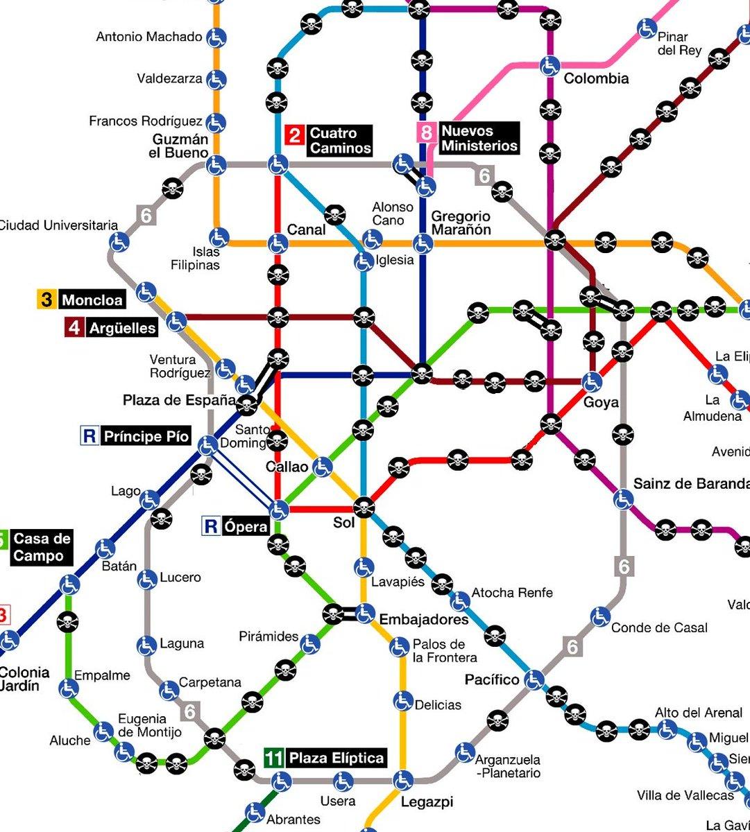 Lineas Mapa De Metro Madrid.Nacion Rotonda On Twitter Asi Se Ve El Plano De Metro Del