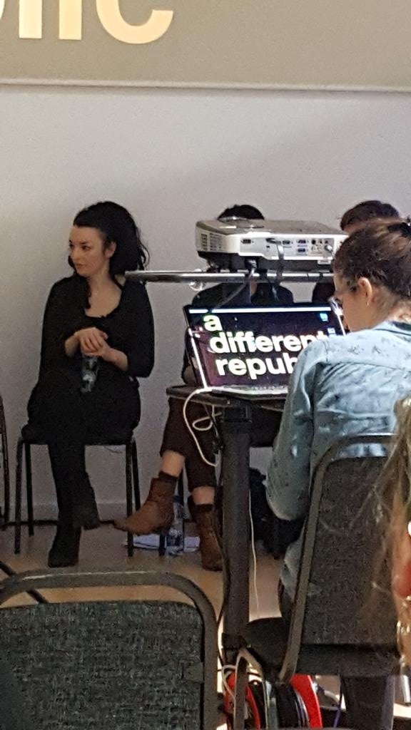 @AideenBarry gives a different take on the 1916 commemorations in #adifferentrepublic @LabDCC @ADIarts https://t.co/ViWwj5fPwc