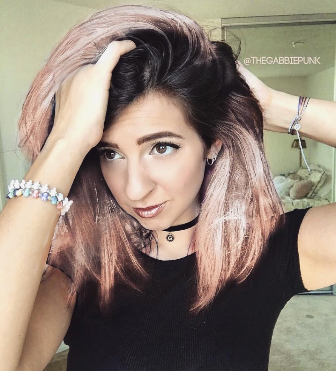 gabbie hanna on twitter should i dye my hair this color next. Black Bedroom Furniture Sets. Home Design Ideas
