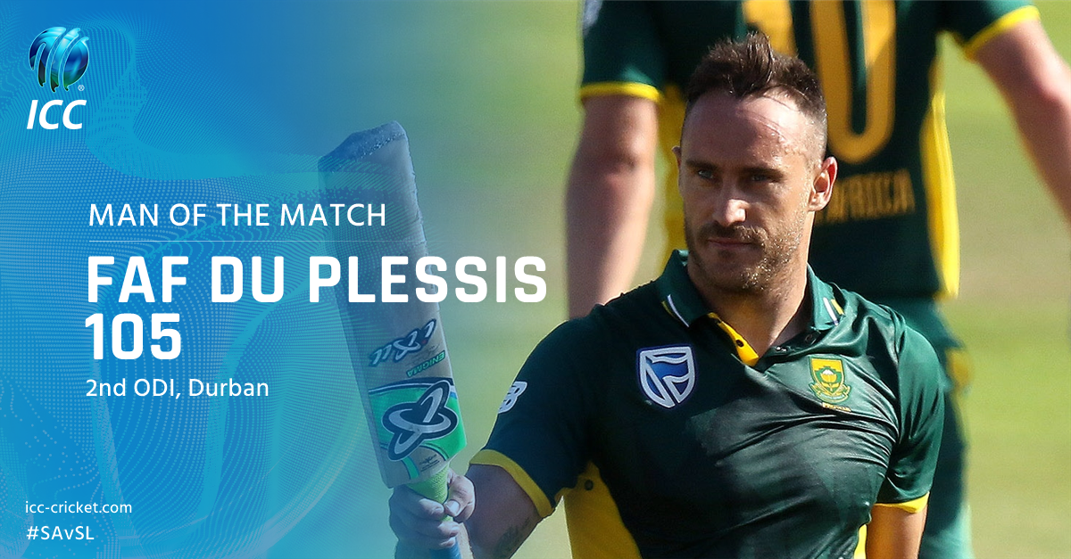 A century and a stunner of a catch - Man of the Match in the 2nd ODI goes to Faf du Plessis!