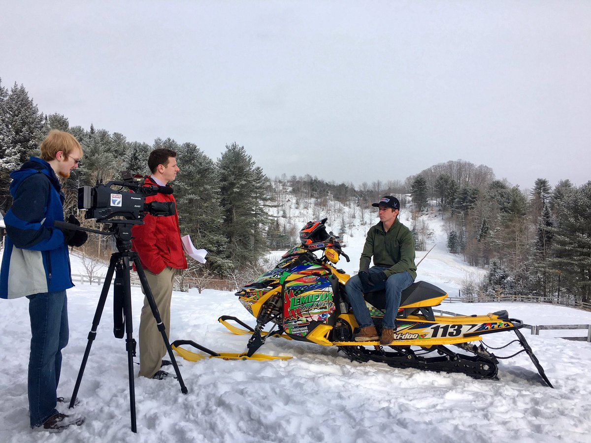news newslinc on reporter dan fenton and photographer news7 newslinc on reporter dan fenton and photographer skyler dixon talk to x games snocross bronze medalist and st j alum lincoln lemieux
