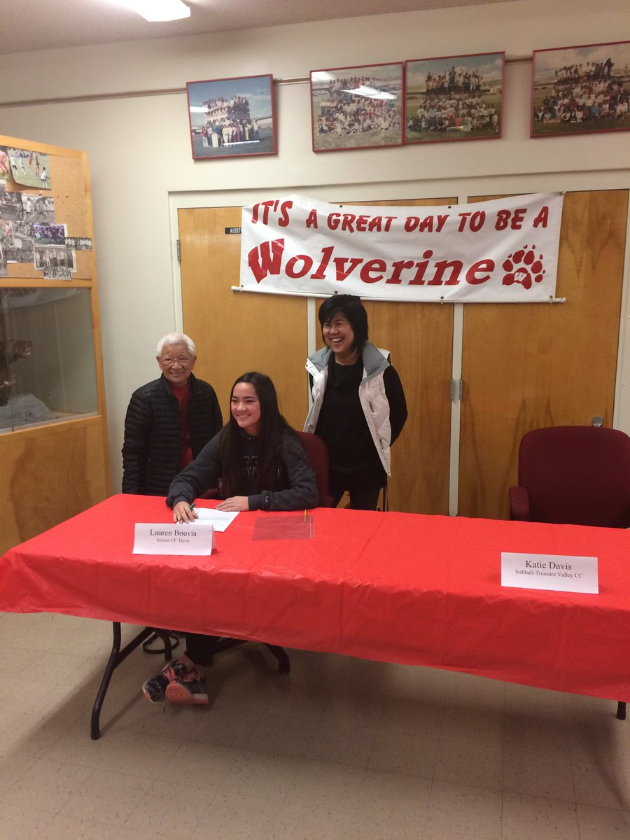 Weiser Wolverines On Twitter Lauren Bouvia Signing Her Loi To  # Muebles Himher S A