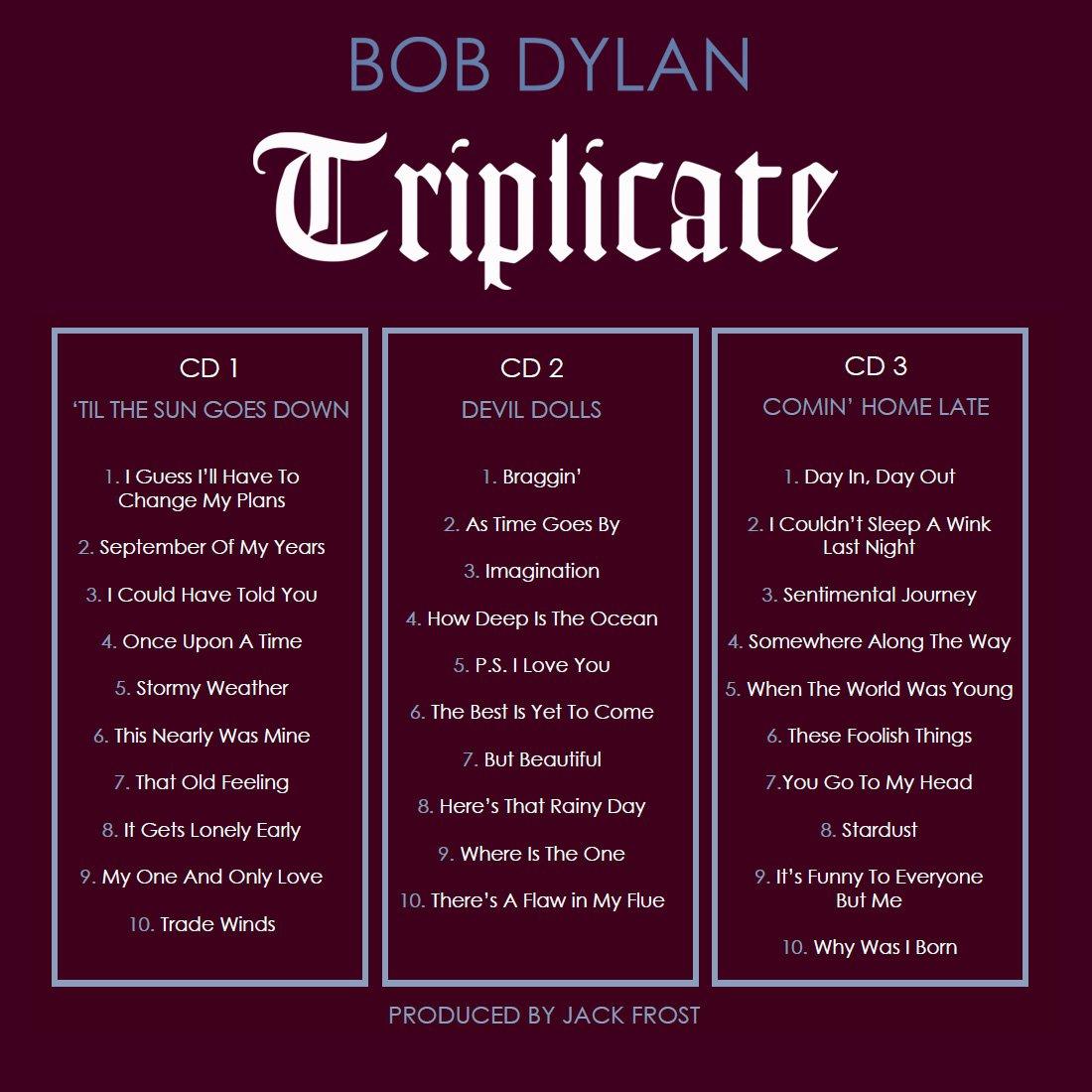 #QuieroQueSepasQue el 31 marzo #BobDylan lanza Triplicate, 30 nuevas grabaciones de clásicos de la música americana  http:// ow.ly/ORad308yv0v  &nbsp;  <br>http://pic.twitter.com/DJiqOTwxiA