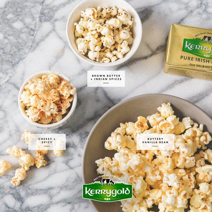 Kerrygold Irish Buttered Popcorn – Three Ways