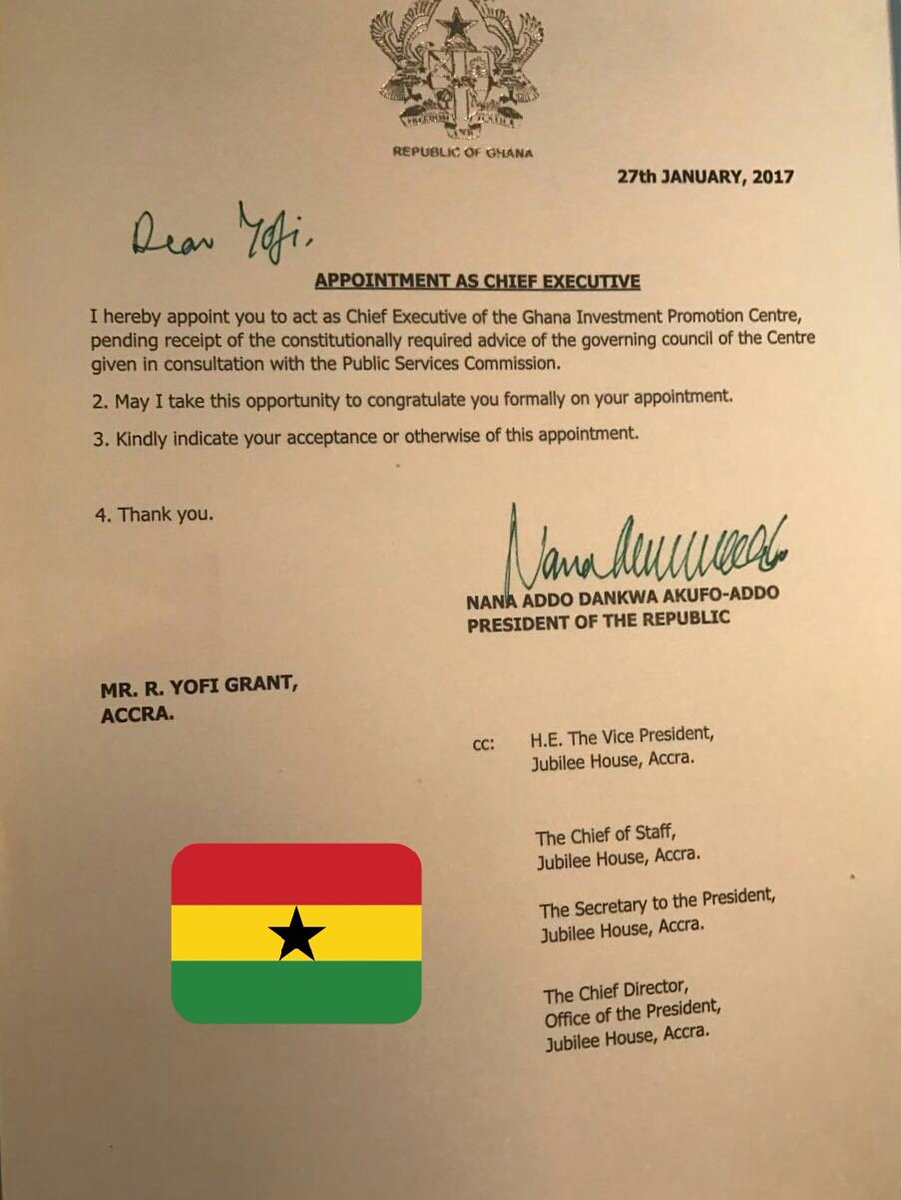 Kaba on twitter yofi grant appointed acting ceo of ghana kaba on twitter yofi grant appointed acting ceo of ghana investment promotions councilgipc appointment letter personally signed by prez nakufoaddo altavistaventures Gallery