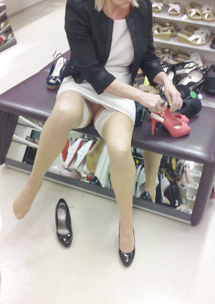 Sexy milf on shopping