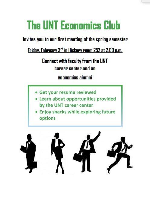 unt economics club on twitter hey all we re having 1st econ club
